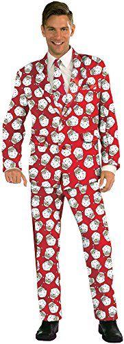 Forum Novelties Men's Santa Suit Costume - Christmas Fashion, (adult holiday costumes for men)