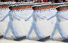 chinese sailors march photo