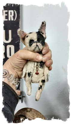 "Image of TEENY-TINY FRENCH BULLDOG  - 5"" size * By Whendi's Bears"