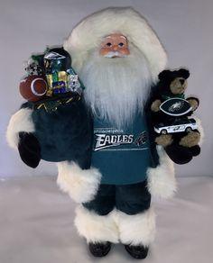 Philadelphia Eagles Santa Claus Doll - pinned by pin4etsy.com
