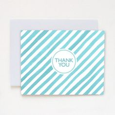 Hand-painted thank-you card. No, thank YOU.