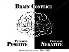"""""""Brain Conflict"""" The human have both positive and negative thinking. Negative Thinking, Positive And Negative, Emotional Intelligence, Growth Mindset, Royalty Free Stock Photos, Positivity, Memes, Brain, Pictures"""