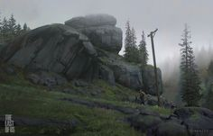 """""""The Last of Us"""" concept art by Nick Gindraux"""