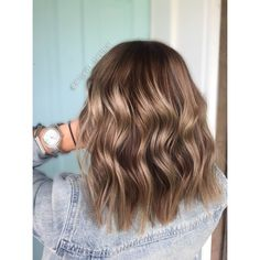 Dark brown hair with ashy blonde balayage // lived in color by @aftonivey_thestylist