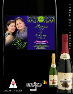 Lovely Wedding Favor! Your guests will surely love to take home this Personalized Sparkling Wine!