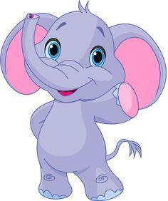 Illustration of Illustration of very cute elephant vector art, clipart and stock vectors.