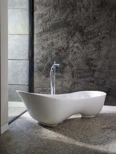 Chic, Sleek Limestone Bath from Victoria + Albert