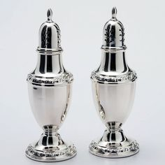 Rogers Sterling Silver Salt and Pepper Shakers - Zapffe Silversmiths Salt Pepper Shakers, Salt And Pepper, Palace Garden, Gift List, Silver Plate, Stuffed Peppers, Sterling Silver, Gifts, Salt N Pepper
