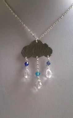 """I recently picked up the April issue of Make & Sell Jewellery Magazine and there was a feature called """"Make a statement with Weather Motifs. Rain Clouds, Selling Jewelry, Make And Sell, Gems, Handmade Jewellery, Pendant, Silver, Blog, Necklaces"""