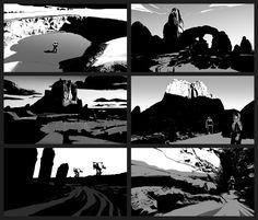 ArtStation - Composition Sketches, Balazs Agoston