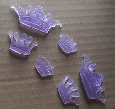 Aromatherapy-Princess Crown Soaps 12x Mini -Patchouli, Geranium & Rose Oil-Lilac