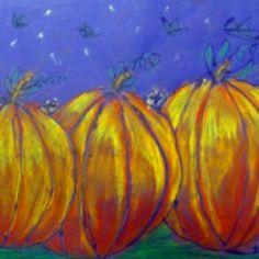 Fall art lesson - older kids  Pumpkins