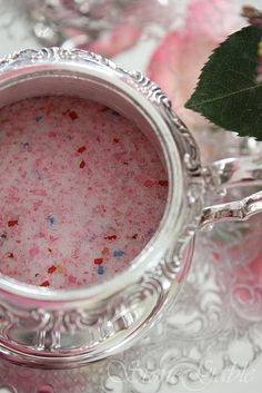 Colored sugar... tutorial.     http://stonegable.blogspot.com/2011/03/sweet-as-sugar-making-colorful-sugars.html