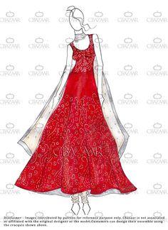 #DIY #celebfashion Art Silk Anarkali Suit