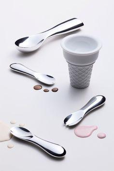 カチカチのアイスクリームもスッとすくえる魔法のスプーン【15.0%】|インテリアハック