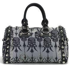 Skull Satin Handbag
