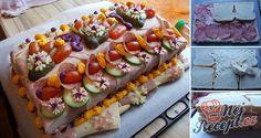 Fotopostup, se kterým vyrobíte slaný dort i vy. Děkujeme za foto recept Veronice S. Russian Pastries, Russian Dishes, Russian Recipes, Borscht Soup, Burger Co, Unique Recipes, Ethnic Recipes, Sour Cream Sauce, Cake Recipes