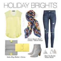 Stella & Dot   Holiday Brights   Our Holiday Collection is here! This season add pops of citron and brighten up your wardrobe. Shown: Union Square Scarf Cobalt/Black Tribal, Soho Flap Wallet, Déjà Vu Double-Sided Studs. Get yours at www.stelladot.com/lisabreen #Stelladot #StelladotStyle #HolidayCollection #Holiday