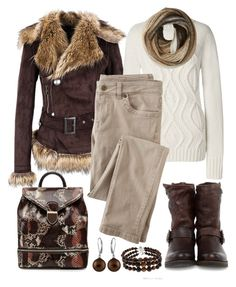 """""""Untitled #1158"""" by gallant81 ❤ liked on Polyvore featuring Lands' End, Wrap, Frye, Alexander McQueen, Pearlz Ocean and Echo Design"""