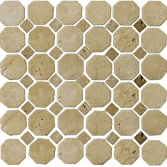 Found it at Wayfair - Natural Stone Random Sized Travertine Mosaic Tile in Beige and Mocha
