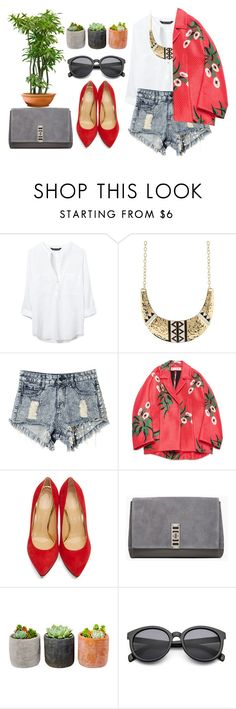 """""""#182"""" by vilte-m ❤ liked on Polyvore featuring Zara, Charlotte Russe, Marni, Charlotte Olympia, Proenza Schouler and Shop Succulents"""