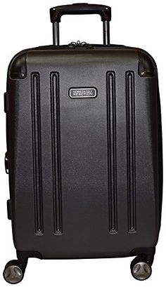 """Kenneth Cole Reaction 8 Wheelin Expandable Luggage Spinner Suitcase 20"""" (Pewter)"""
