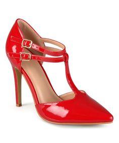 Loving this Red Tilda T-Strap Pump on #zulily! #zulilyfinds