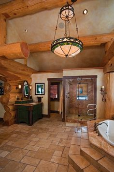 Amazing Log Home Brimming With Sophisticated Electronic Systems