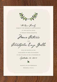italiano wedding invitations | Green Wedding Shoes Wedding Blog | Wedding Trends for Stylish + Creative Brides