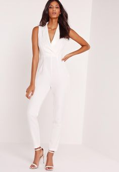 Awesome White Jumpsuit : Enticing White Jumpsuit