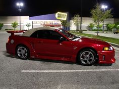 custom colors for mustangs | 2002 Laser Red Ford Mustang Convertible - Trey '02