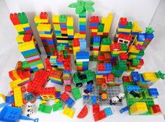 Lego Duplo Building Blocks Lot Mixed Parts Figures Building Plates 470+ Pieces  #LEGO