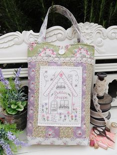 """""""Button Shoppe"""" by Sally Giblin of The Rivendale Collection. #TheRivendaleCollection stitchery, appliqué and patchwork patterns. www.therivendalecollection.com.au"""