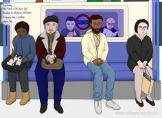 Friday morning, Victoria line, March 2017 – Wilson Yau: I draw, teach and make stuff 10 March, Friday Morning, London Underground, My Drawings, Line, Family Guy, Victoria, How To Make, Fishing Line