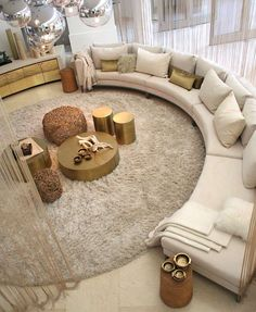 Please Visit 45 Magnificient Round Couches For Small Living Rooms Post to Read Full Article. Living Room Sofa Design, Living Room Seating, Small Living Rooms, Home Living Room, Living Room Designs, Living Room Decor, Earthy Living Room, Round Couch, Earthy Home Decor