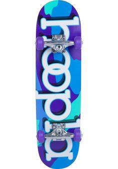 Hoopla Purple-Camo, Skateboard-Complete, multicolored Titus Titus Skateshop #SkateboardComplete #Skateboard #titus #titusskateshop