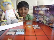 Interviews with Chemists Anshul shows the board pieces and how to play the game.