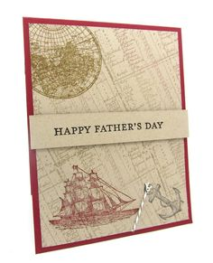 A Father's Day Card using The Open Sea stamp set from Stampin' Up!