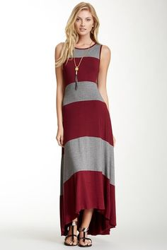 Bobeau Stripe Hi-Lo Maxi Dress on HauteLook
