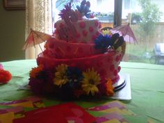 Topsy-Turvy Hawaiian Cake    Uploaded by Cindy on Wednesday Jul 11 11:06:41 2012  Submitted into the July, 2012 Inkedibles Contest