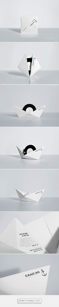 The Swinging Paper Boat vinyl mailer design by KOREFE - http://www.packagingoftheworld.com/2017/04/the-swinging-paper-boat.html