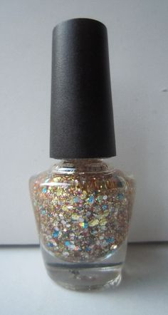 Golden Rainbow Custom Made Franken #nailpolish #nailart #customnail #glitter #glitteraddict #frankenpolish #sparkle