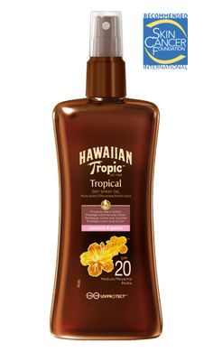 Hawaiian Tropic Aceite seco protector en spray SPF 20 (200 ml)