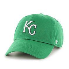 size 40 dc8f9 bca0c Kansas City Royals 47 Brand Green St. Patty s Day Clean Up Adjustable Hat  Cap