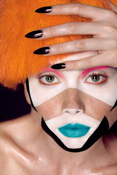 Geometric Beauty Make Up - Retouching on Makeup Arts Served