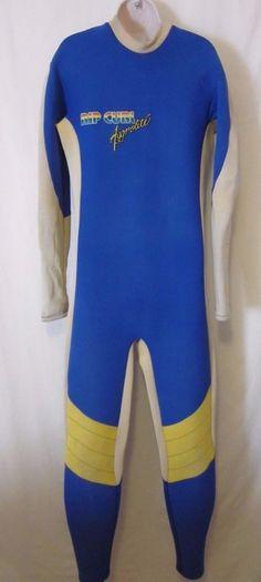 Vintage Rip Curl Aggrolite Wetsuit Full Body Blue Rainbow Logo  #RipCurl