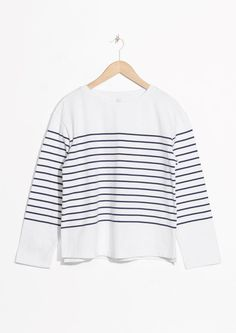 & Other Stories image 1 of Striped Shirt in White