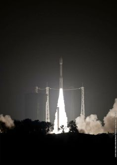 A lightweight Vega launcher raced into space from French Guiana on Tuesday night, boosting a European-built satellite into a 466-mile-high polar orbit with a high-resolution telescope to survey cities, natural resources, and disasters for Kazakh government authorities.  http://spaceflightnow.com/vega/vv03/140429launch/