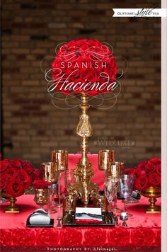 Style File by Wedluxe: Rich red combined with gold, black and white