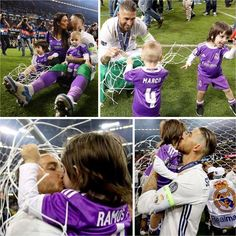 Sergio Ramos and family  Real Madrid Duodecima 2017